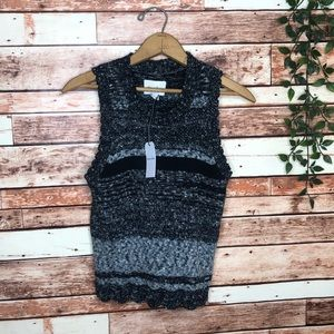 $215 Steven Alan Cliff Shell Knit Marled Top Small